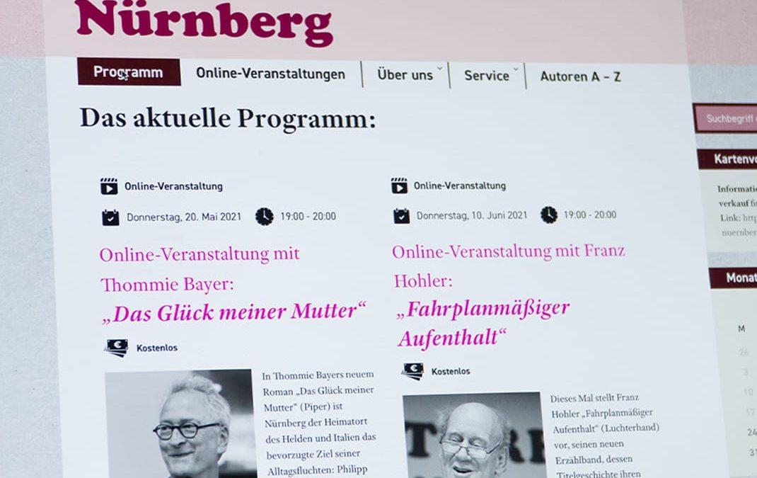 LiteraturClub Nürnberg, Website & Livestreams